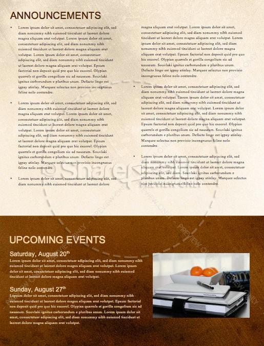 Spiritual Battle Church Newsletter Template | page 4