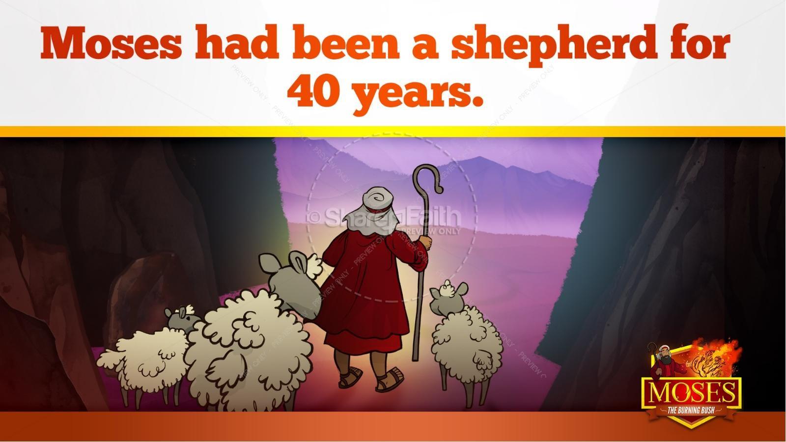 Exodus 3 Moses and the Burning Bush Kids Bible Stories | slide 12