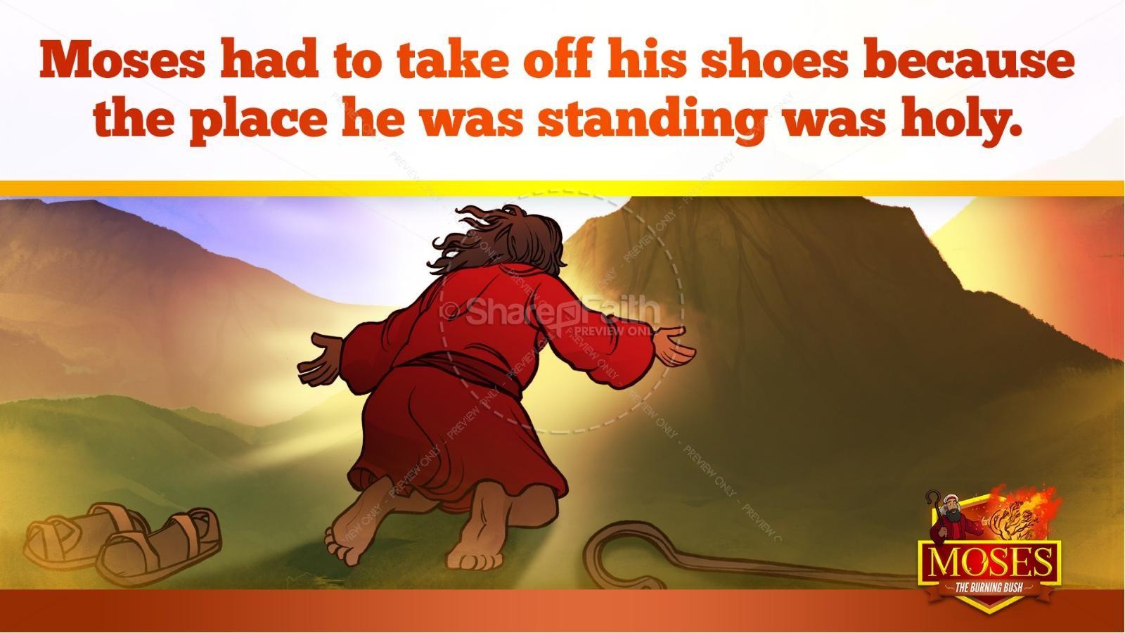 Exodus 3 Moses and the Burning Bush Kids Bible Stories | slide 20