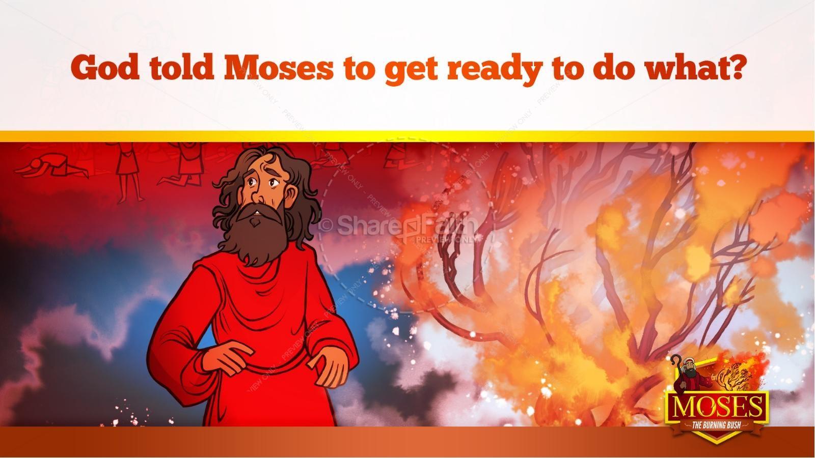 Exodus 3 Moses and the Burning Bush Kids Bible Stories | slide 23