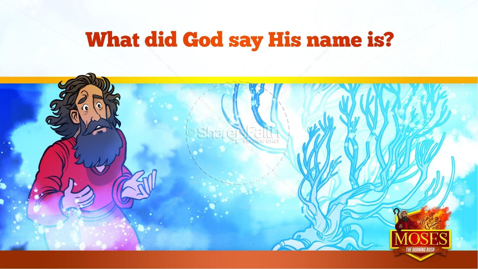 Exodus 3 Moses and the Burning Bush Kids Bible Stories   slide 27