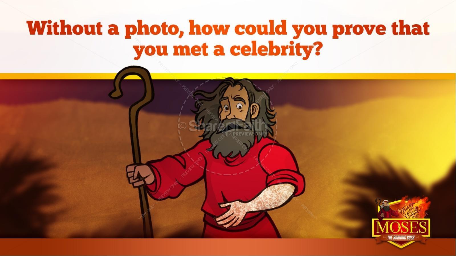 Exodus 3 Moses and the Burning Bush Kids Bible Stories | slide 33