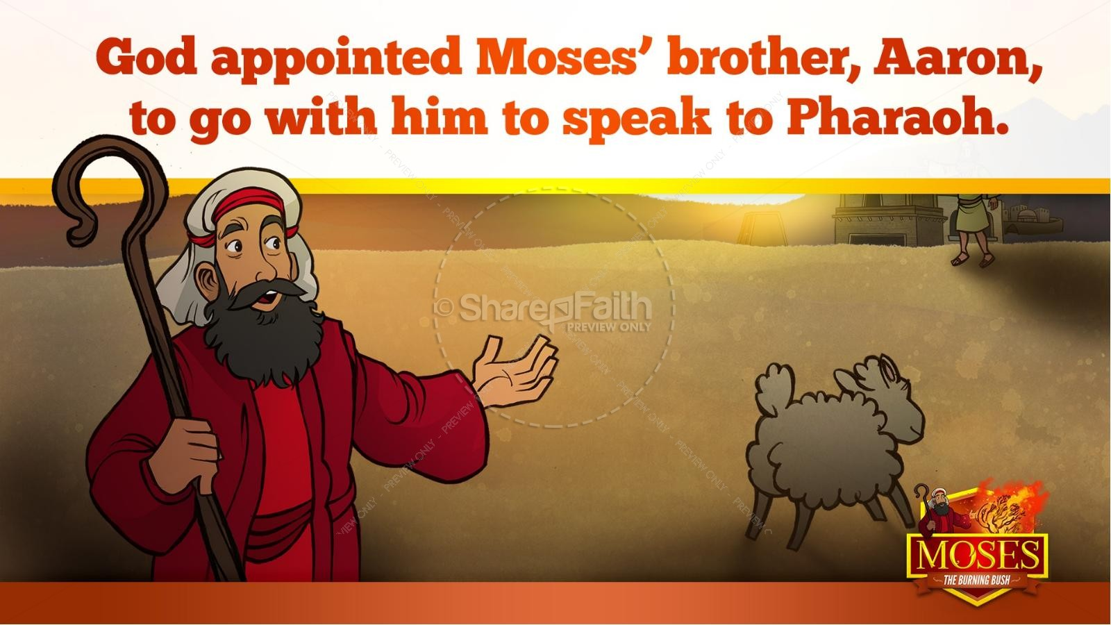 Exodus 3 Moses and the Burning Bush Kids Bible Stories | slide 36