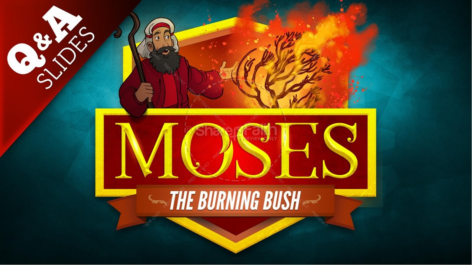 Exodus 3 Moses and the Burning Bush Kids Bible Stories | slide 9