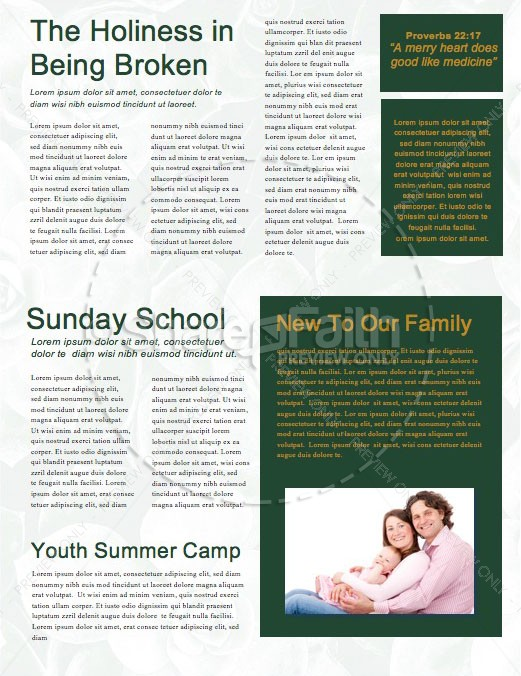 How Sweet The Sound Church Newsletter Template