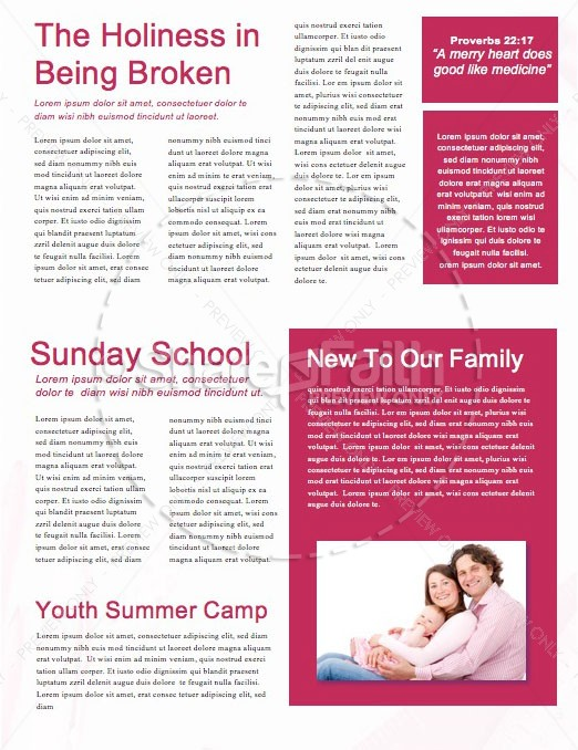 Back to School Supplies Church Newsletter