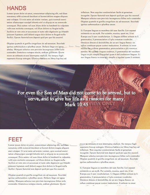 Hands And Feet Church Newsletter Template