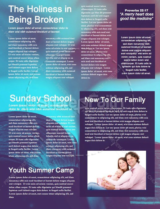 Church Bible Study Newsletter Template