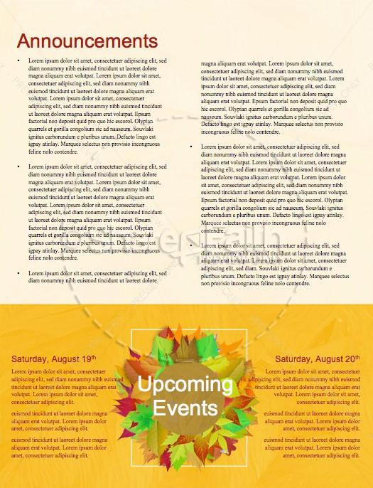 Church Fall Kickoff Newsletter Template