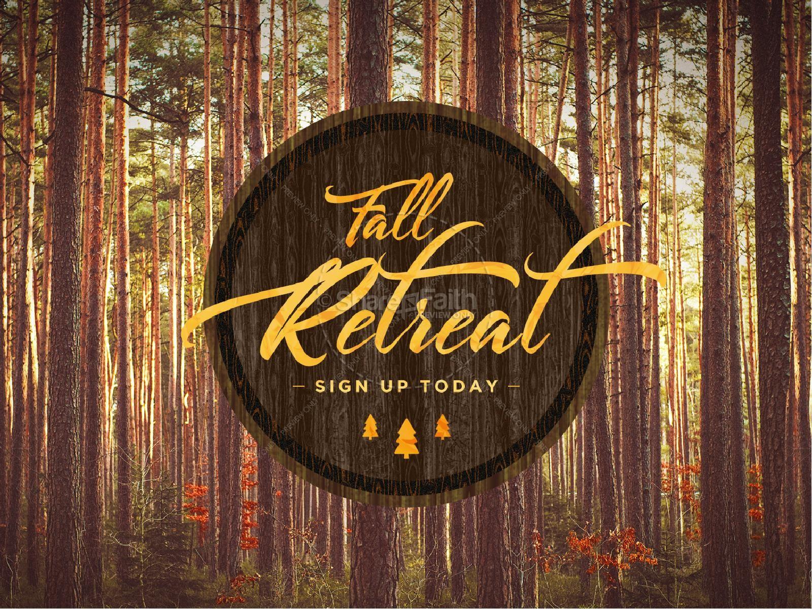 Fall Retreat Church PowerPoint | slide 1