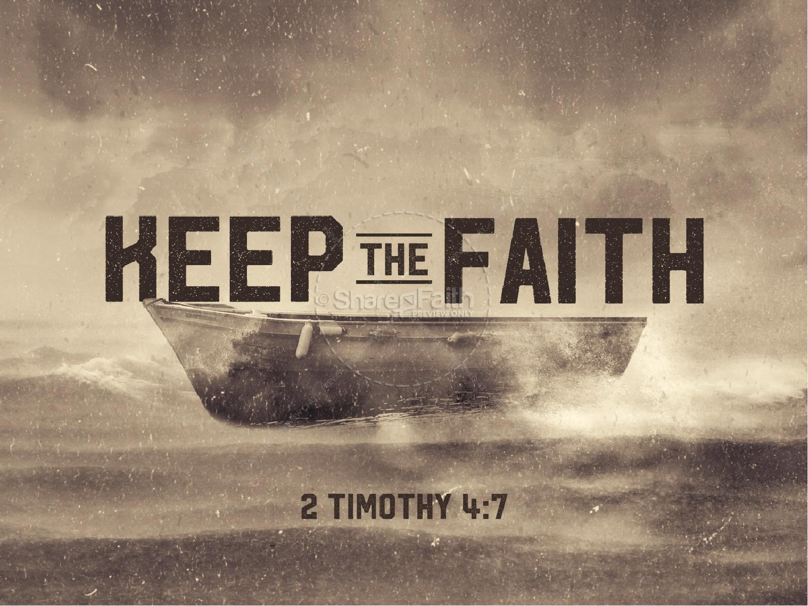 Keep the Faith Sermon PowerPoint | slide 1