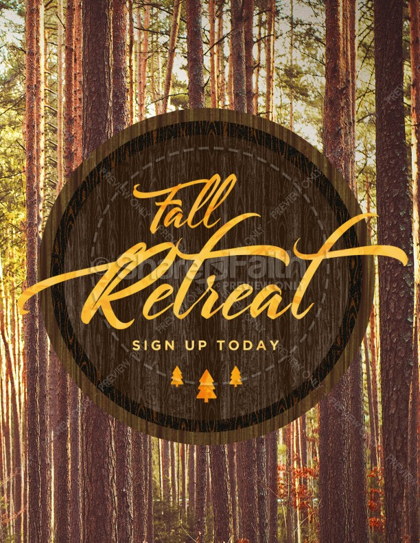 Fall Retreat Church Flyer Template