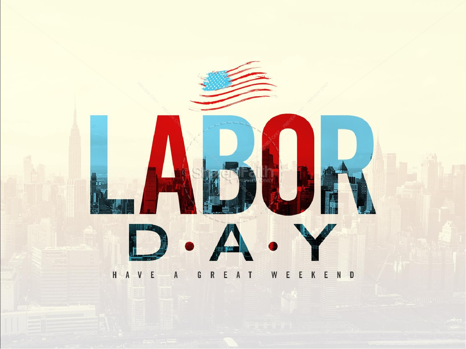 Labor Day Church PowerPoint Template