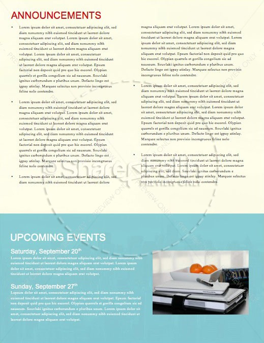 Labor Day Church Newsletter Template