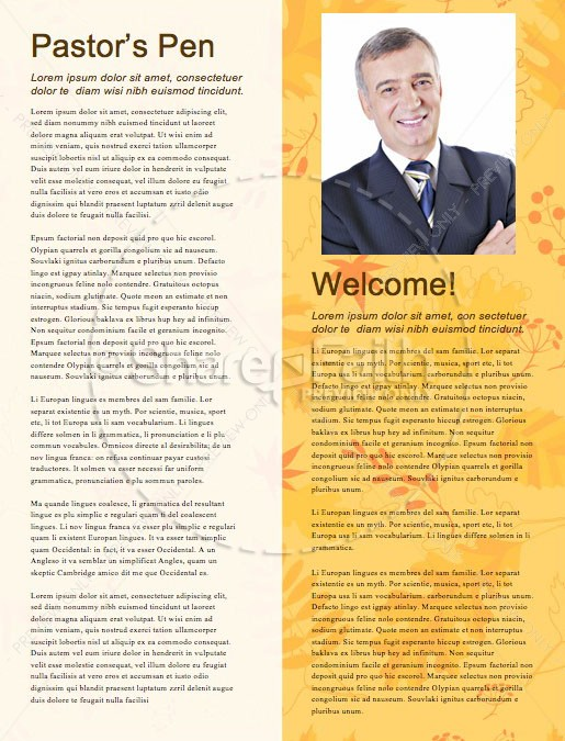 Harvest Party Church Newsletter Template | page 3
