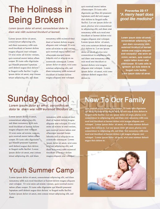 Till Death Do Us Part Church Newsletter Template