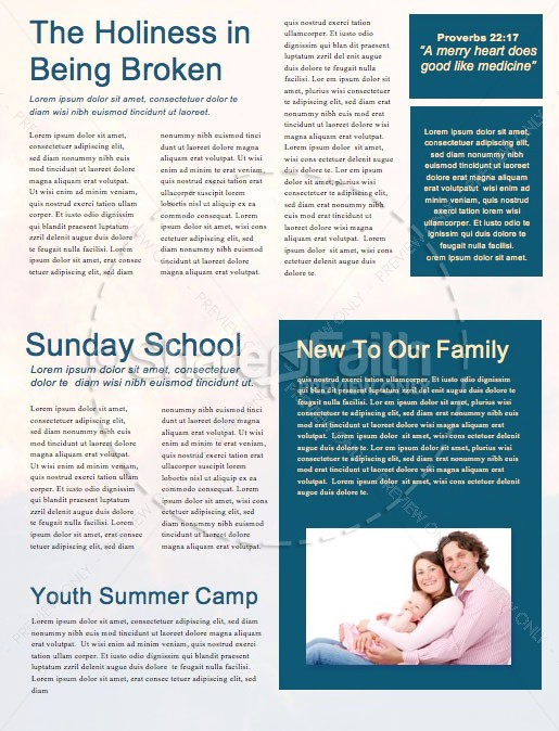 Now Or Never Church Newsletter Template