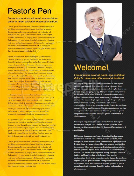 Pastor Appreciation Church Newsletter Template