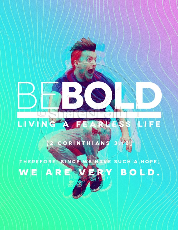 Be Bold Church Flyer Template