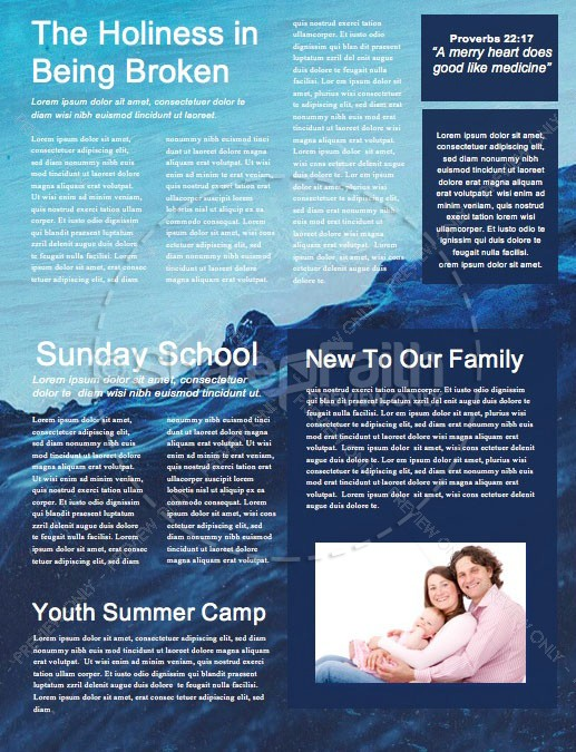 Rising Tide Church Newsletter Template