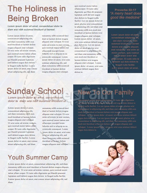 Counter Culture Church Newsletter Template