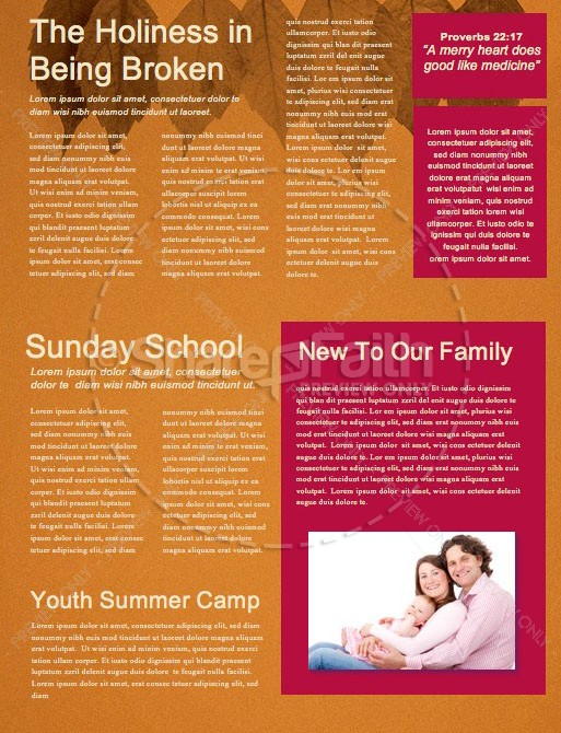 Small Groups Church Newsletter Template