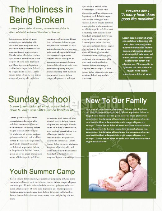 Fan or Follower of Jesus Newsletter Template