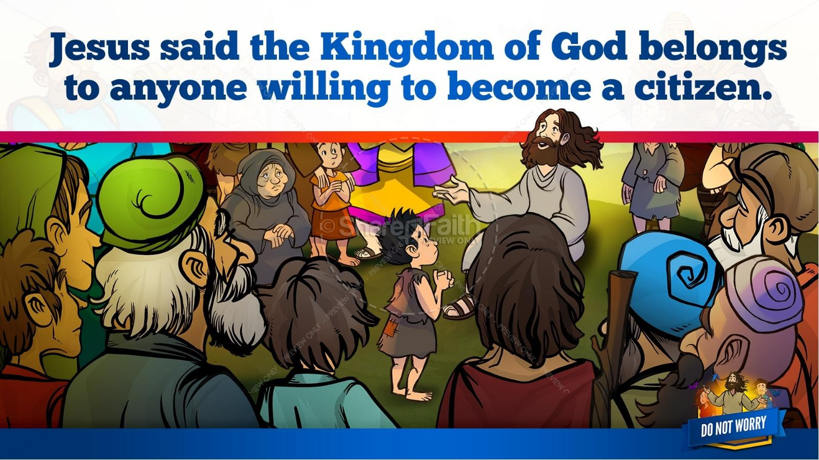 Matthew 6 Do Not Worry Kids Bible Story | slide 12