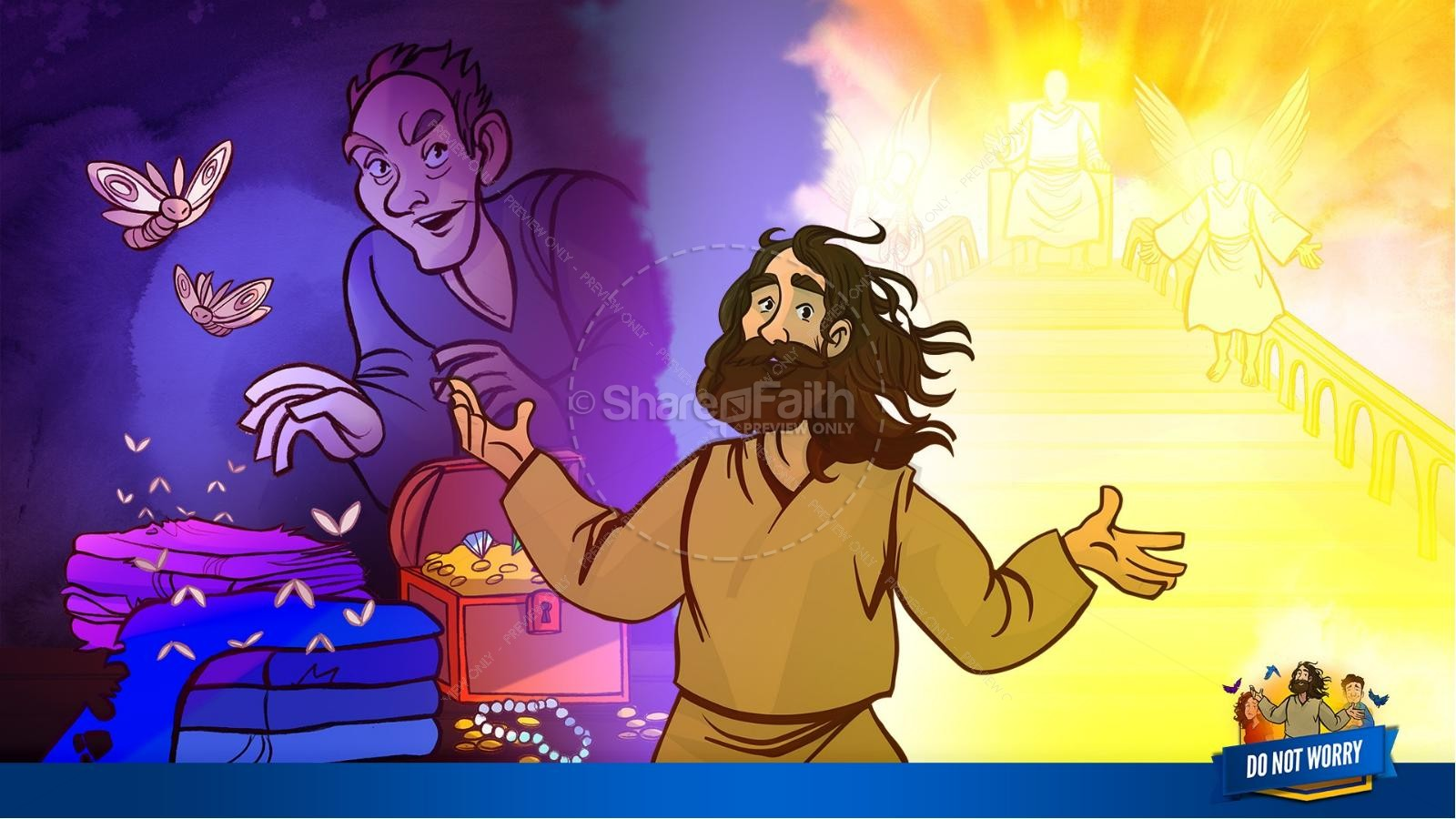 Matthew 6 Do Not Worry Kids Bible Story | slide 14