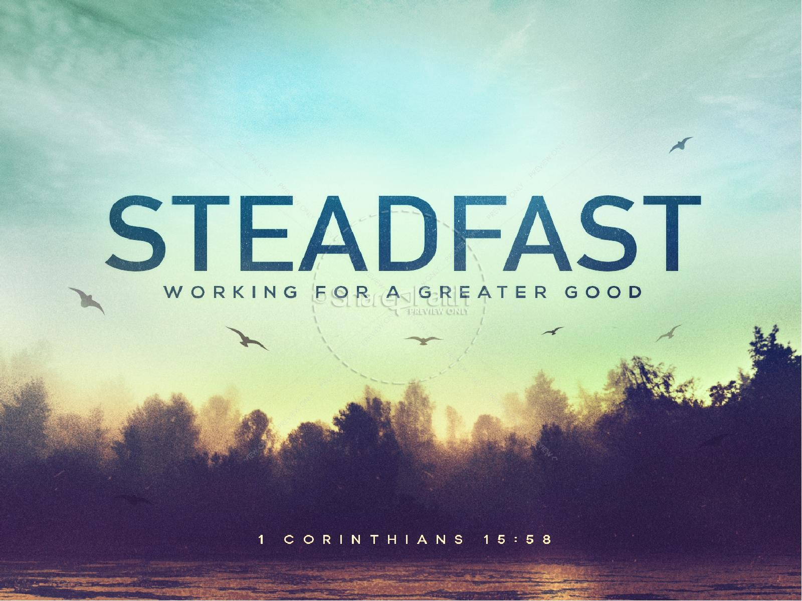 Steadfast Love of the Lord PowerPoint Template