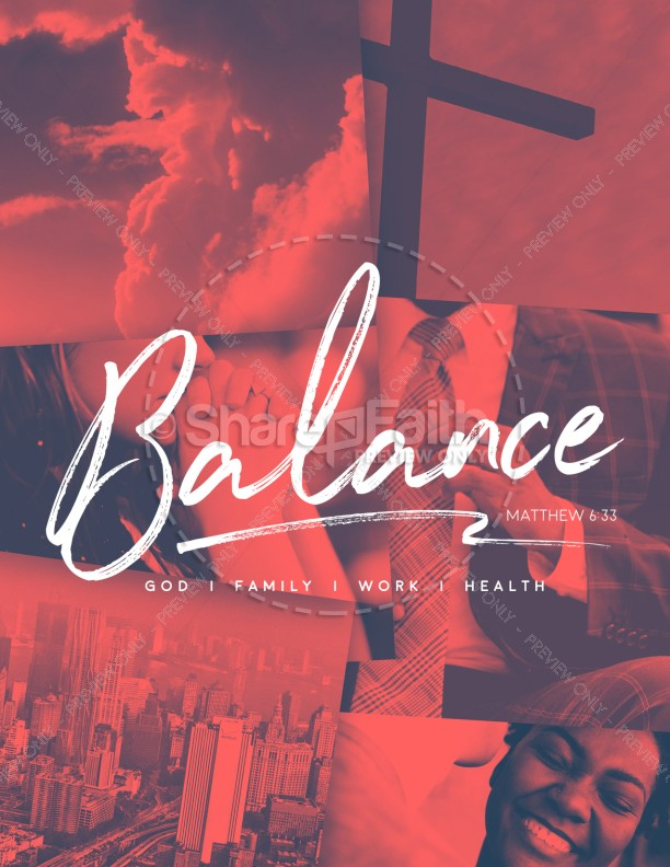Balance In Life Church Flyer Template