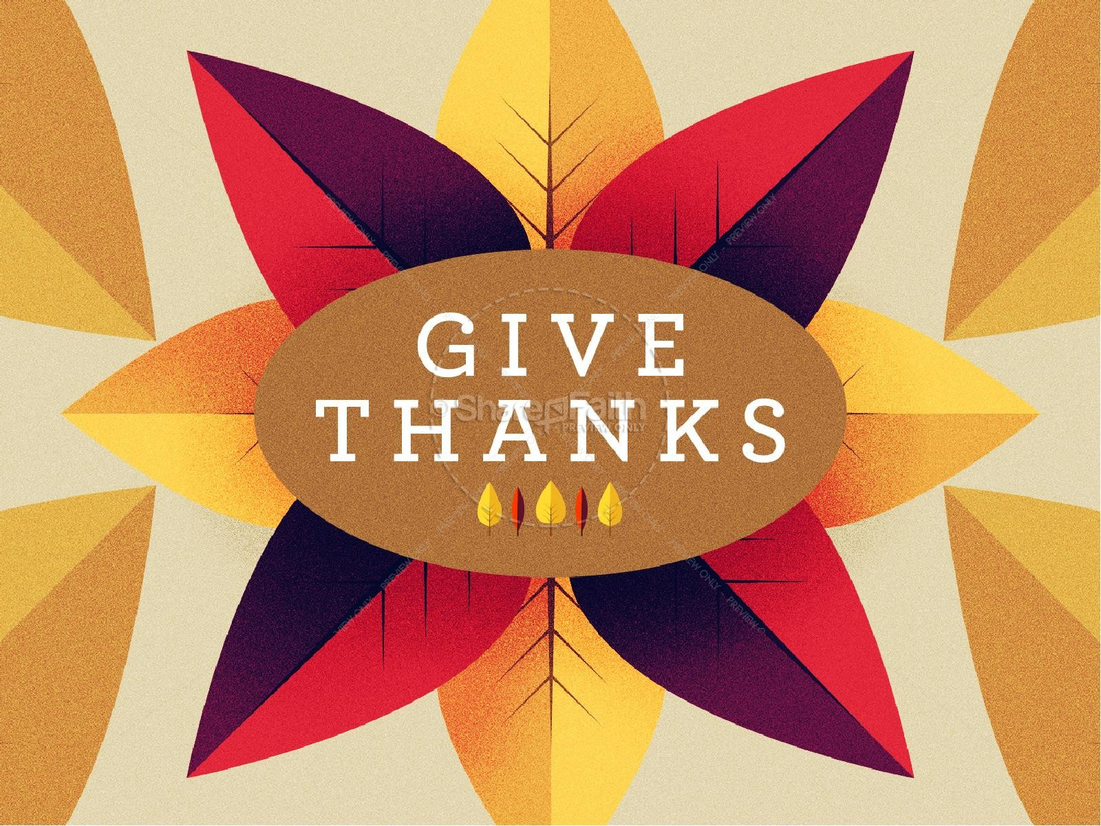 Give Thanks Message Thanksgiving PowerPoint | slide 1