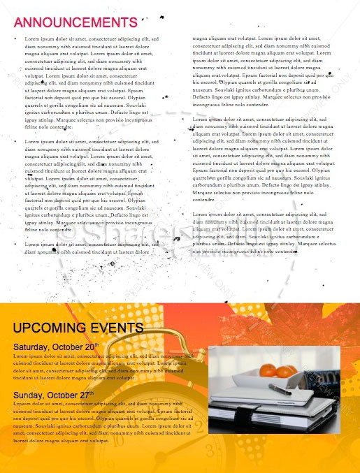 Daylight Savings Time Fall Back Newsletter Template