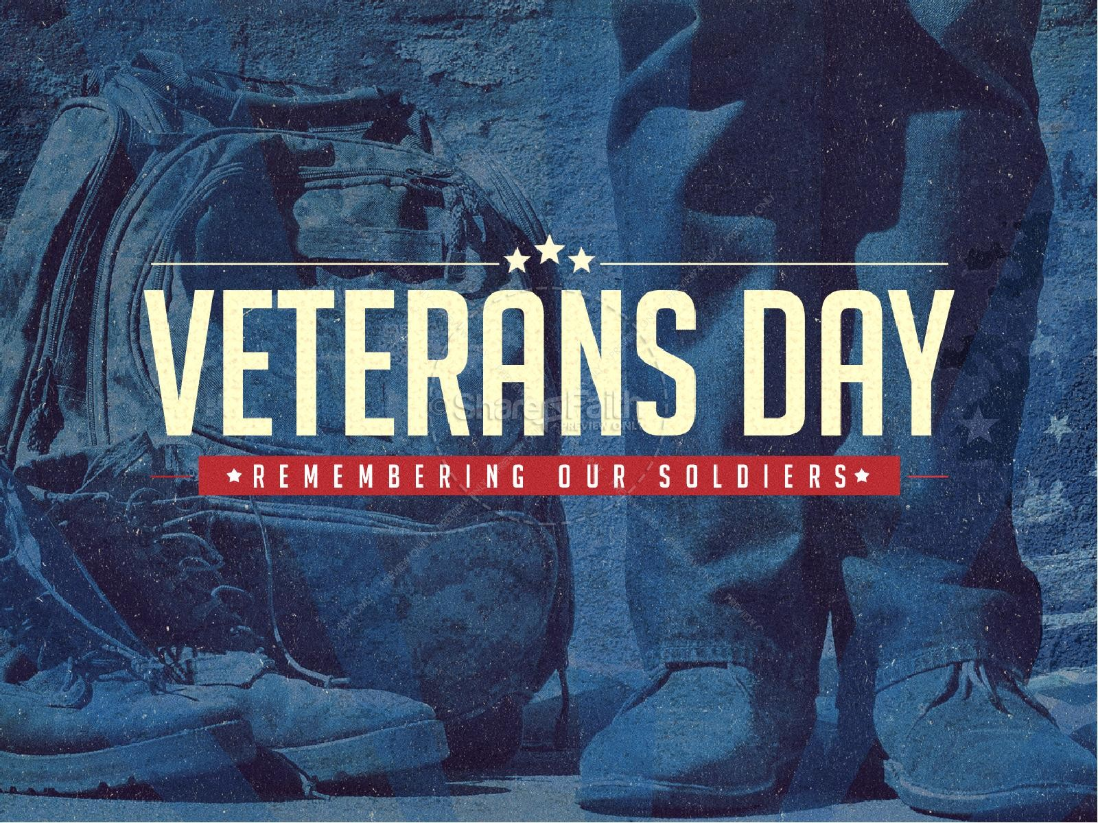 Veterans Day Church PowerPoint Template | slide 1