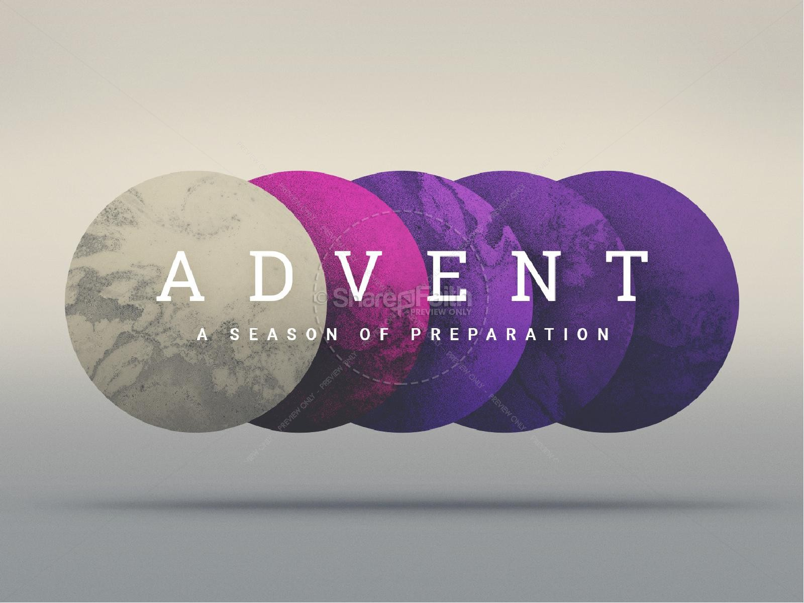 Advent Season of Preparation PowerPoint Template