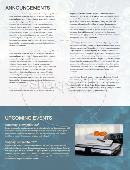 Hope Overflowing Church Newsletter Template