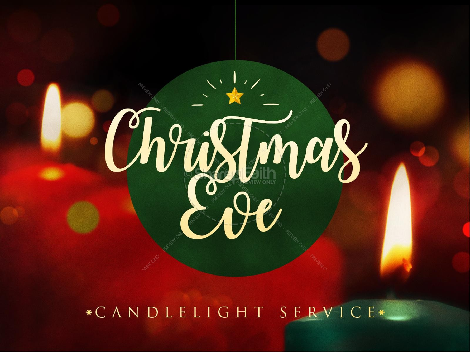 Christmas Eve Candlelight Service PowerPoint