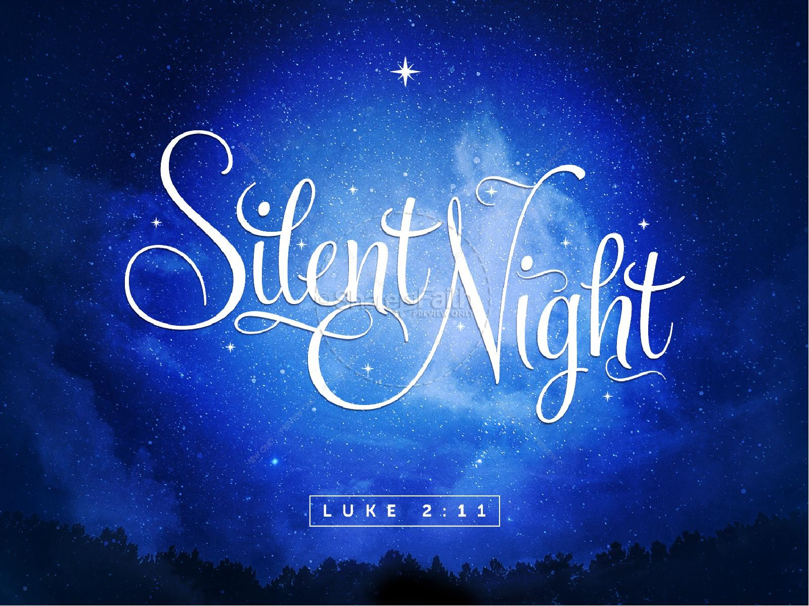 Silent Night Christmas PowerPoint Template