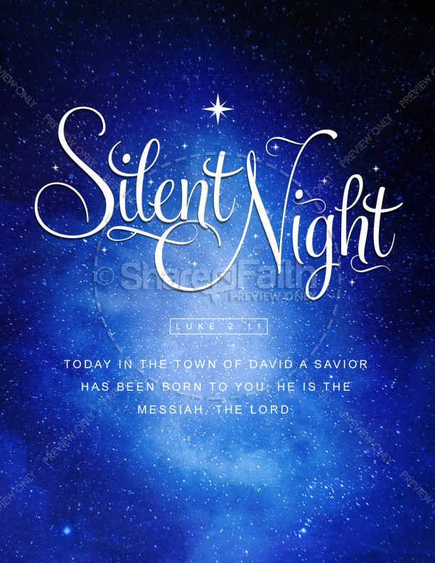Silent Night Christmas Flyer Template