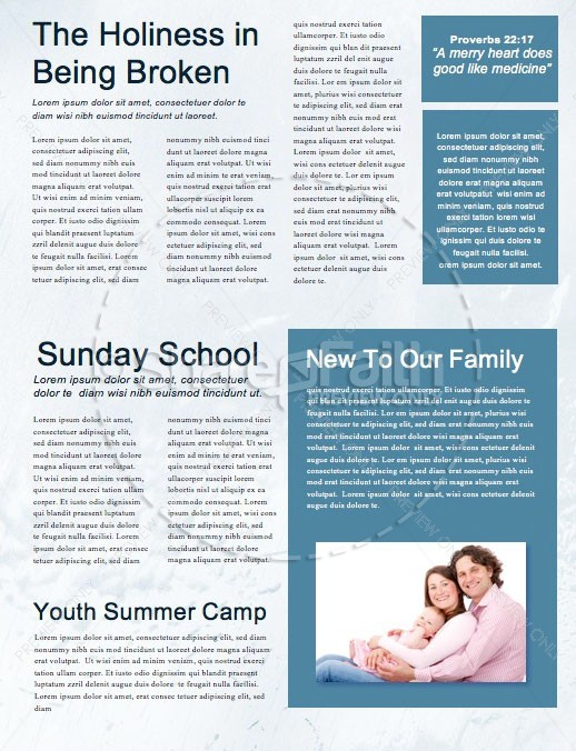 Divine Healing Church Newsletter Template