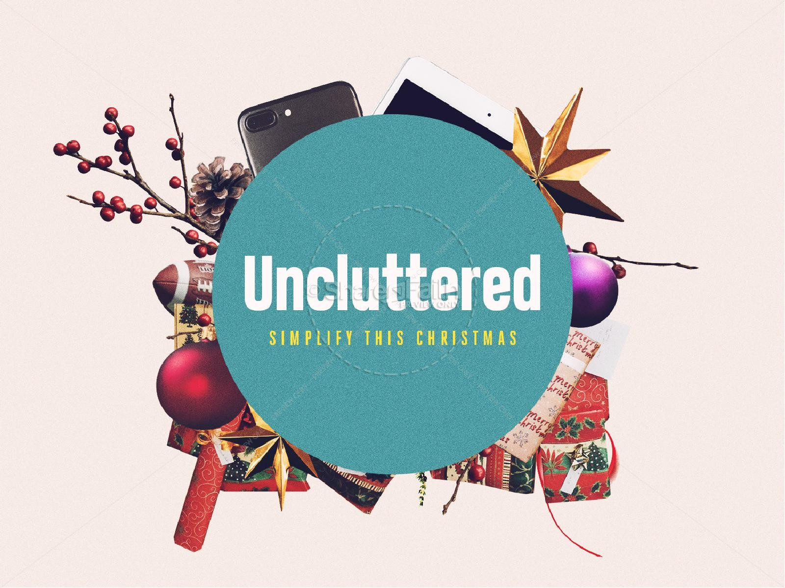Uncluttered Christmas Church PowerPoint
