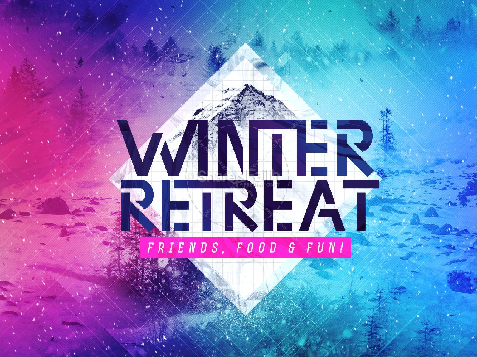 Winter Retreat Church PowerPoint Template | slide 1