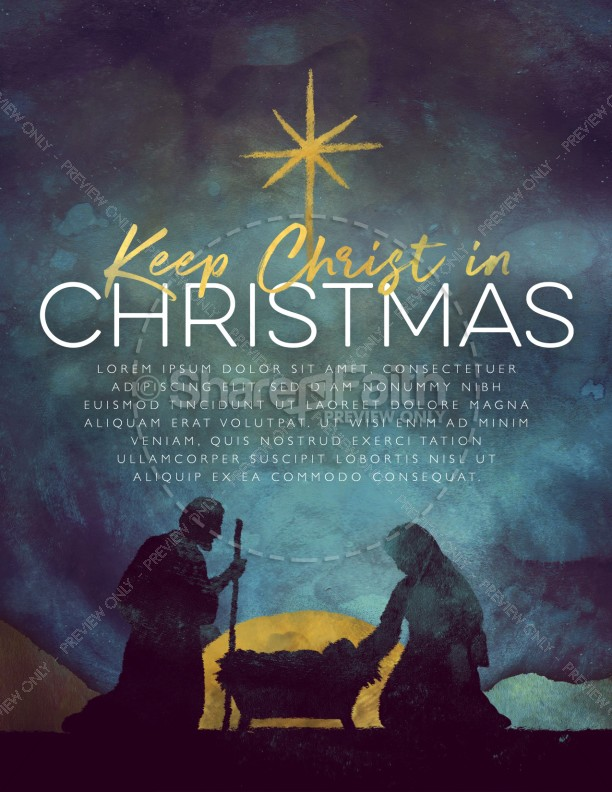 Keep Christ In Christmas Flyer Template Template | Flyer Templates