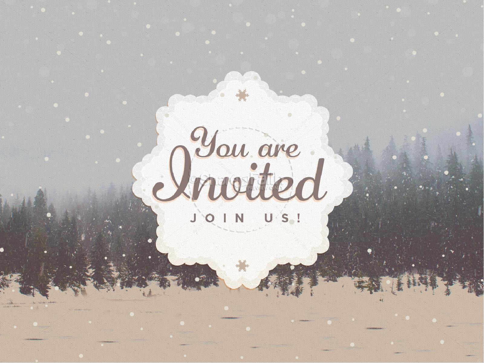 You Are Invited To Christmas PowerPoint