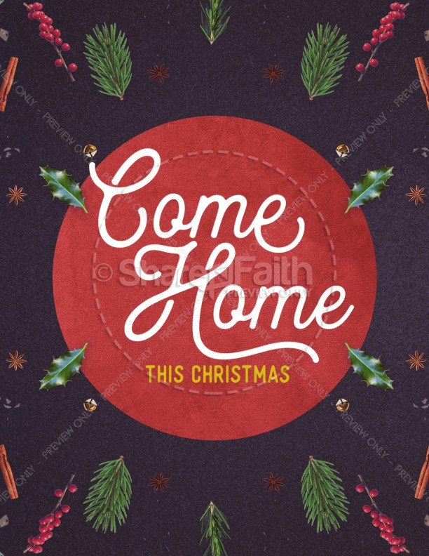 Come Home This Christmas Church Flyer