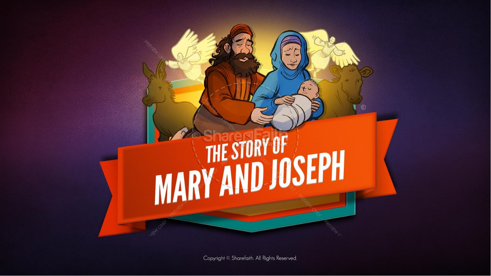 Luke 2 Mary and Joseph Christmas Kids Bible Story | slide 1