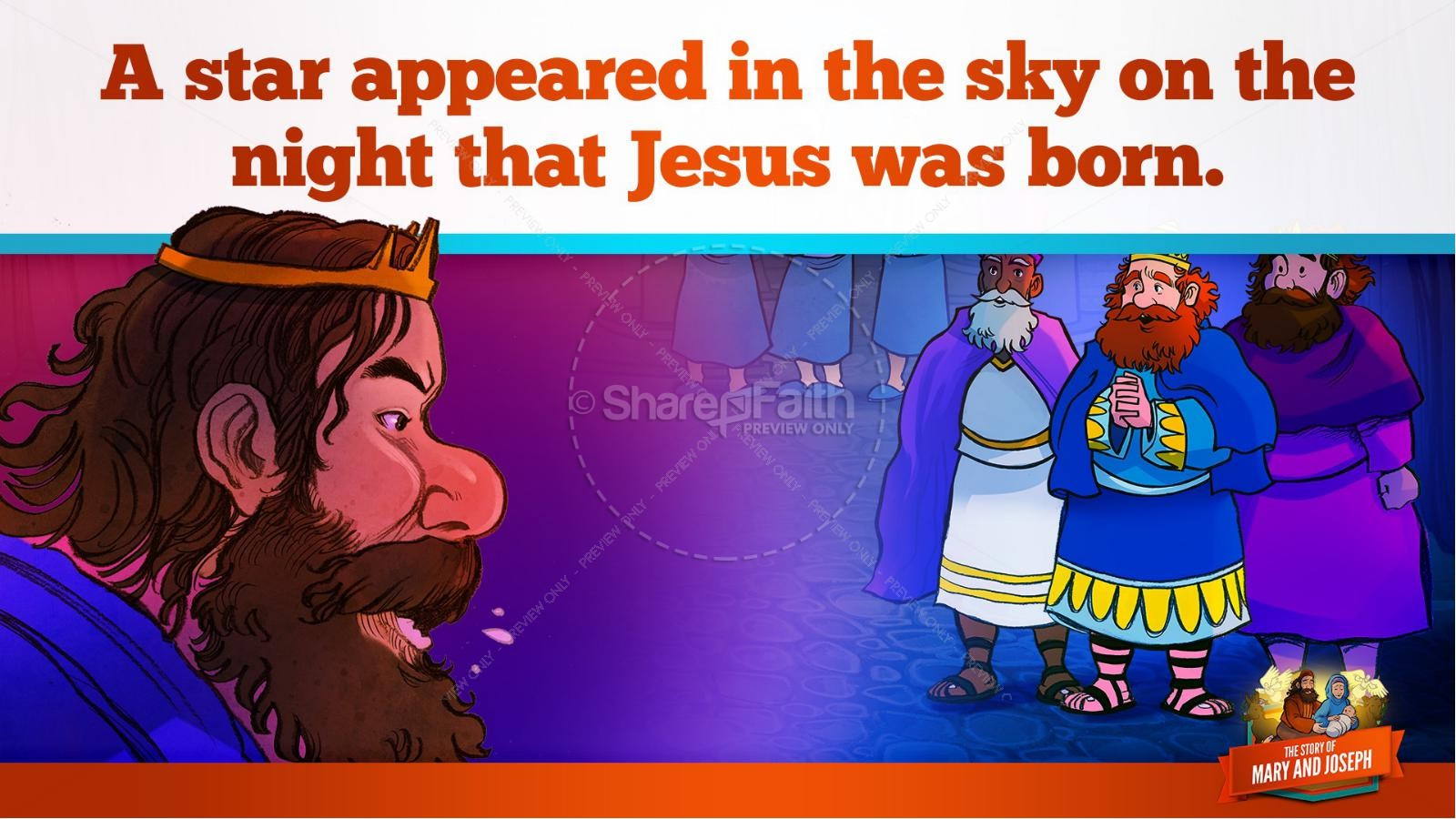 Luke 2 Mary and Joseph Christmas Kids Bible Story | slide 28