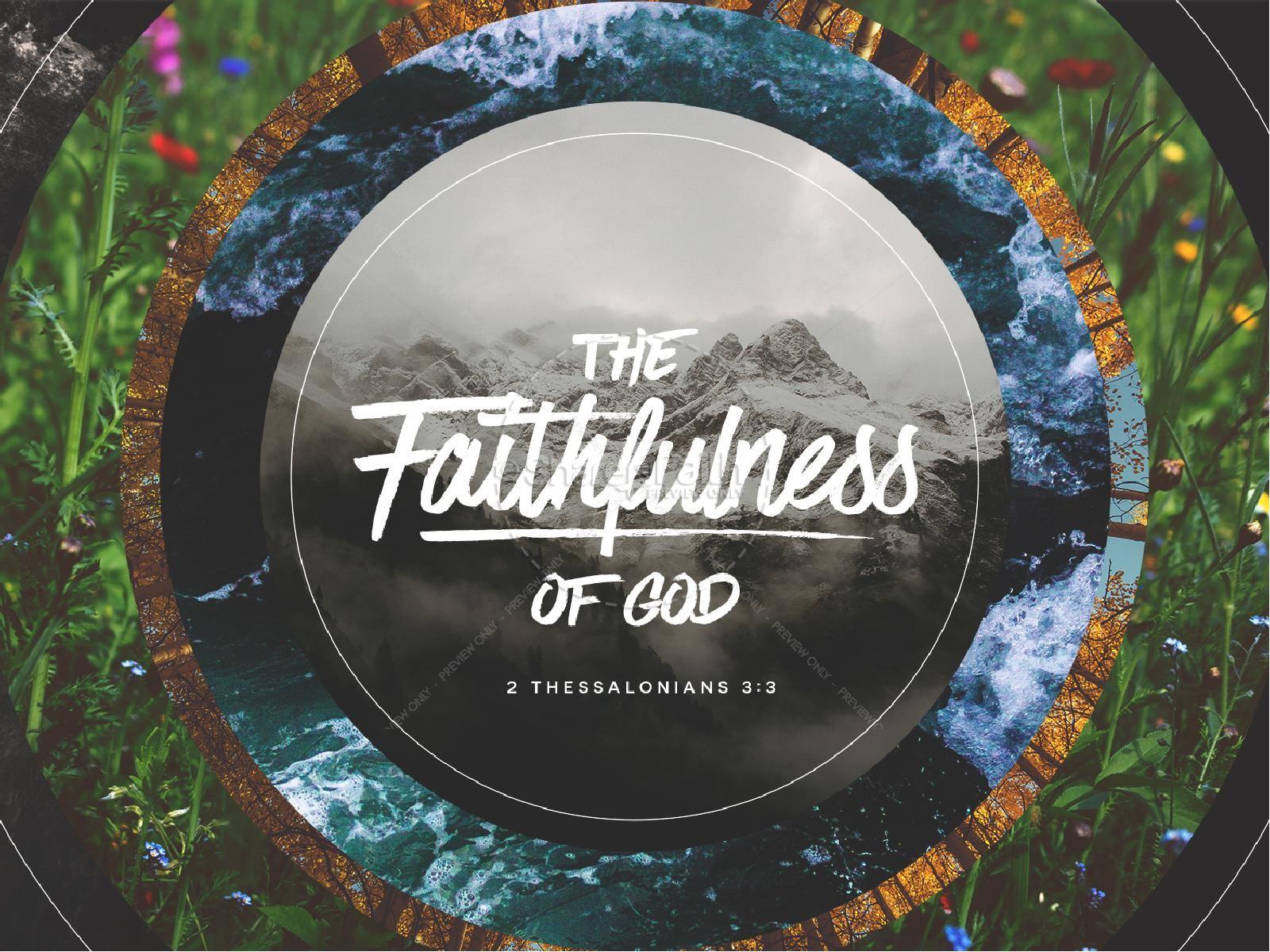 Faithfulness Of God Sermon Powerpoint