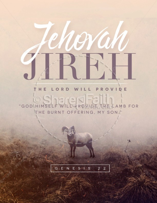 Jehovah Jireh The Lord Provides Church Flyer Template