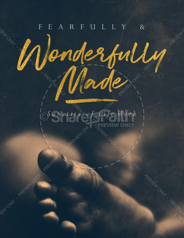 Fearfully & Wonderfully Made Church Flyer Template